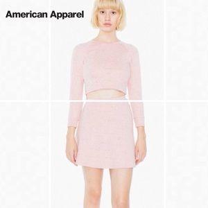 American Apparel Dresses & Skirts - American Apparel Pink Skirt and Crop Top Set
