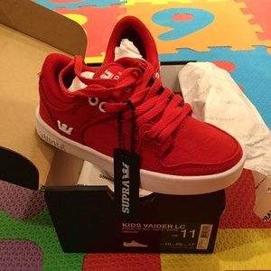 Supra Other - Boys Supra Red canvas sneaker NWT
