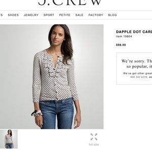 J. Crew Dapple Dot Cardigan
