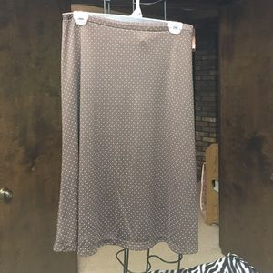 The Limited Dresses & Skirts - Fun, Limited skirt in brown polka dots