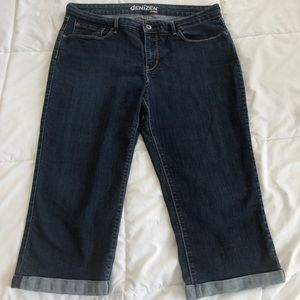Denizen Levi's 16 stretchy dark wash jeans capris