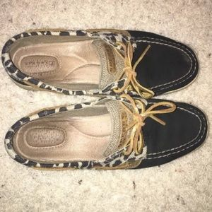 Sperry Top Sider Bluefish Leopard Boat Shoe Size 9