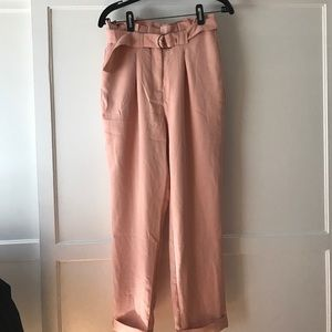 English Factory Pants - English Factory Blush Pleated Pants