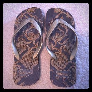 Cobian Shoes - Brown & Gold Flip Flops