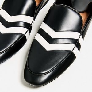 Zara two toned striped loafers -- size 9