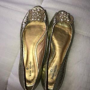 Kate Spade Gold Pearl Flats