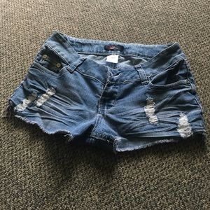 Vintage 55 Pants - Blue jean shorts