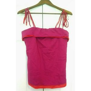 Thakoon Tops - Red & fuschia tie-style tank by Thakoon for Target