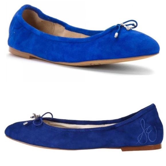 e8734063827e0c Sam Edelman • Felicia blue suede ballet flats