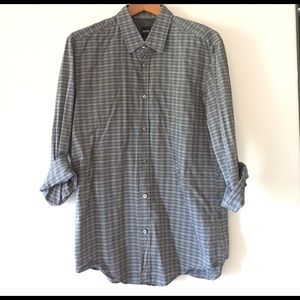 Hugo Boss Other - Hugo Boss Gray Striped Button up Large