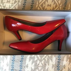 "Life Stride Shoes - 2"" Super Classic Red Heels"