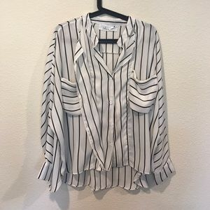 Chicwish Tops - Striped flowy blouse