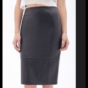Forever21 Faux Leather Pencil Skirt