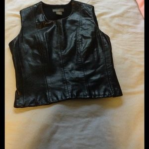 BR leather top