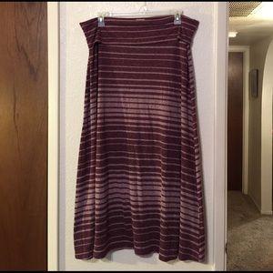 Mossimo XL Heathered Purple Stripe Maxi
