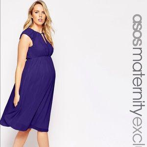 ASOS Maternity Dresses & Skirts - ASOS Maternity Midi Skater Dress in Chiffon