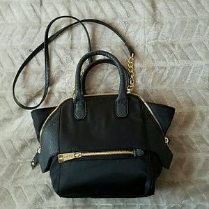Olivia + Joy Handbags - Olivia + Joy Small Valerie Nylon Crossbody Satchel