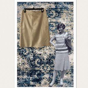 J.Crew Gold Metallic Pencil Skirt
