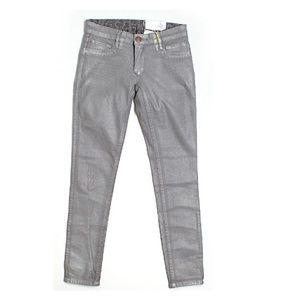 Metallic Silver The Jasper Skinny Jeans
