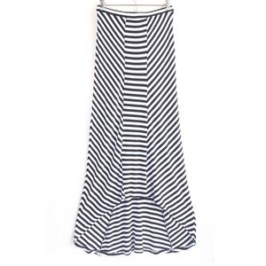 Design History Dresses & Skirts - B&W Striped High Low Skirt