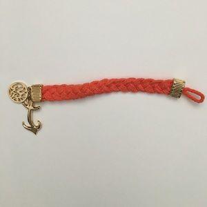 Lilly Pulitzer Jewelry - EUC Lilly Pulitzer Orange Anchor Bracelet