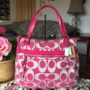 Coach Handbags - Authentic Coach Poppy Signature Lurex Glam Tote