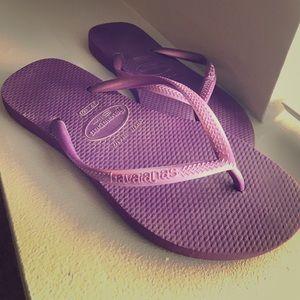 Havaianas Shoes - Havaianas - Purple Flip flop.