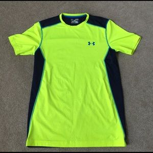 Under Armour Other - Men's neon yellow and navy under armor tee