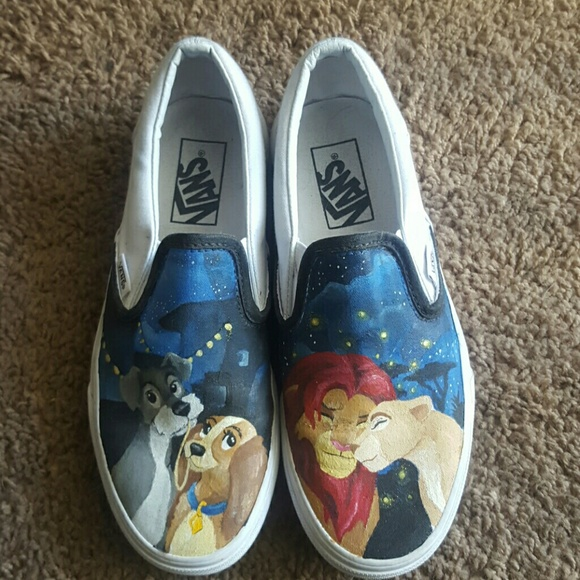 Vans Shoes | Hand Painted Custom Disney