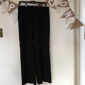 Wide leg wool dress pants