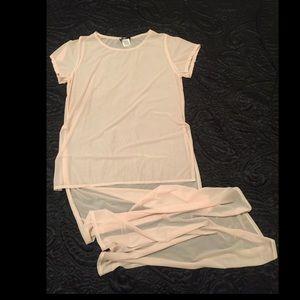 Blackmilk Tops - BlackMilk Clothing Blush Waterfall Top