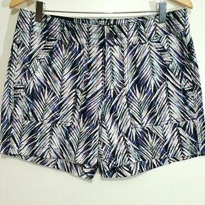 NWT Banana Republic Factory Printed Linen Shorts 8