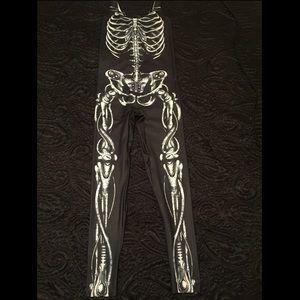 Blackmilk Pants - BlackMilk Clothing Mechanical Bones Catsuit