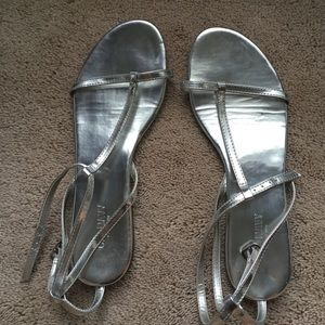 Old Navy Shoes - OLD NAVY SILVER SANDALS