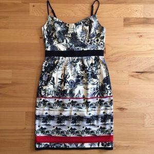 Black Halo Dresses & Skirts - Black Halo Hawaiian print dress