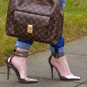 Steve Madden Shoes - Platinum ankle wrap heels