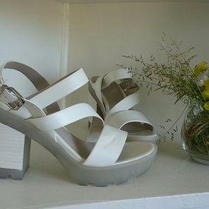 Aldo Shoes - Aldo sporty platform block heels white