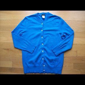 J Crew Jackie Classic Cotton Cardigan Sweater