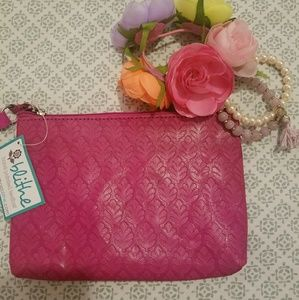 Handbags - Pink Leather Wristlet