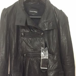 Emporia Armani Leather Coat