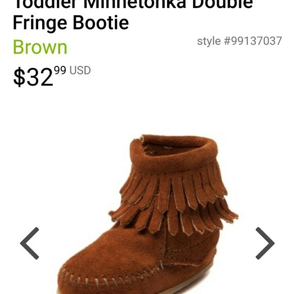Infant Girl Minnetonka Sz 4c Boots
