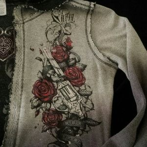 Sinful Tops - Sinful by Affliction Reversible zip up Hoodie