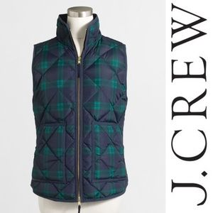 J. Crew Factory Jackets & Blazers - Plaid quilted puffer vest