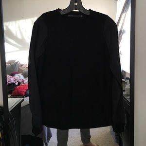 Karen Millen Sweaters - Karen Millen Black Sweater with Silk Sleeves