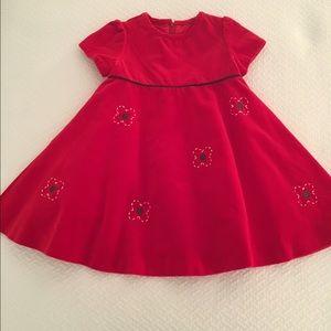 Florence Eiseman Other - Florence Eiseman red velvet dress