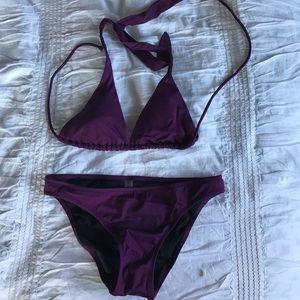 Victoria's Secret Other - Plum VS swim triangle bikini