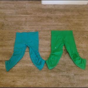Blue and green Capri leggings lululemon