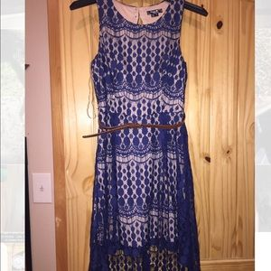 Sequin Hearts Dresses & Skirts - Blue and tan maxi dress