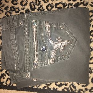 Rock Revival Denim - Olive green rock Revival jeans!