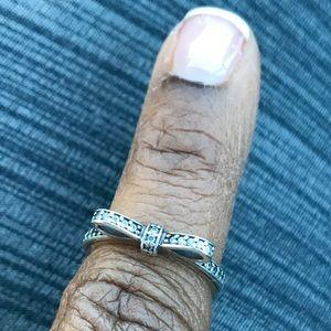 Pandora Jewelry - 💎💍Pandora💍💎Bow Ring, plus Travel Case & Pouch